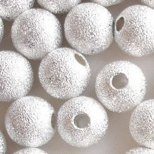 Silver Plated Beads 10mm Stardust Round - 10